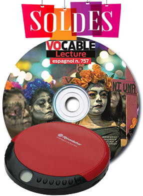 VENTE FLASH : CD de lecture espagnol + baladeur MP3