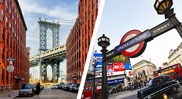 Séjours linguistiques : New York vs. Londres